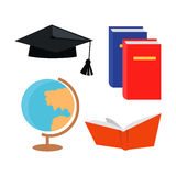 Set of Education Accessoires Icons  Stock Photo