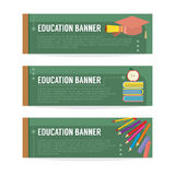 Set Of Education Banner Royalty Free Stock Image
