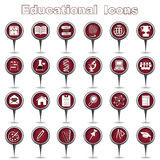 Set of education icons Royalty Free Stock Image