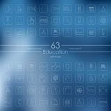 Set of education icons Stock Photography
