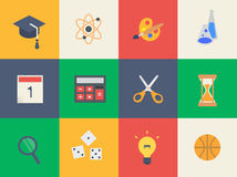 Set of education icons. Big set of Education icons. Flat Vector Illustration Royalty Free Stock Image