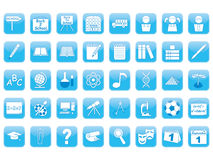 Set of education icons Stock Image
