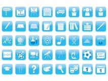 Set of education icons Stock Image