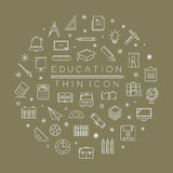 Set of education icons Stock Photos