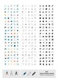 Set of 300 education icons made in color, line and black Stock Images