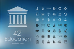 Set of education icons Royalty Free Stock Images