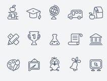 Set of 15 Education icons stock illustration