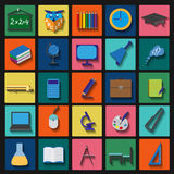 Set education icons Stock Images