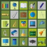 Set education icons Royalty Free Stock Image