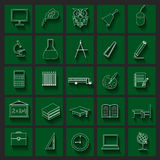 Set education icons Stock Photos