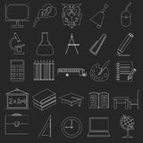 Set education icons Royalty Free Stock Photos