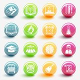 Set of education icons vector. Illustration royalty free illustration