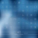 Set of education icons Stock Photos