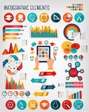 Set with Education infographics. Stock Photography