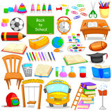 Set of education and learning object icon Stock Image