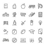 Education Line Icons Vector Collection. Set of 25 education, school, college and university related line icons Stock Photos