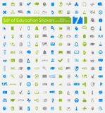 Set of education stickers Royalty Free Stock Images