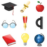Set of education vector Royalty Free Stock Photography