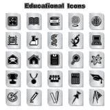 Set edukacj ikony Obrazy Stock