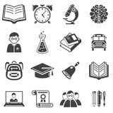Set edukacj ikony wektorowe Obraz Royalty Free