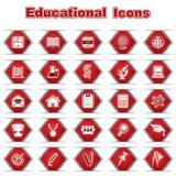 Set Edukacyjne ikony Zdjęcia Stock