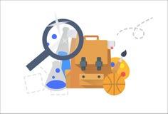 Set edukacyjni elementy ilustracji