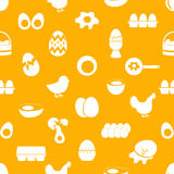 Set of egg theme icons seamless pattern Royalty Free Stock Photo