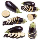 Set eggplant vegetable fruits Stock Images