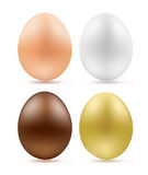 Set of eggs simple chocolate Stock Photography