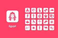 Set of Egypt simple icons Stock Photography