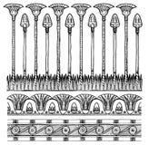 Set of  egyptian ornament Stock Image