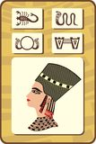 Set of egyptian symbols - part 1 Stock Image