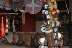 Set egzotyczni etniczni instrumenty muzyczni Obrazy Royalty Free