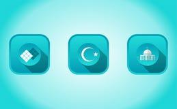 Set of eid mubarak symbol Royalty Free Stock Photography