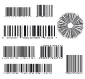 Set of eight barcode Royalty Free Stock Photos