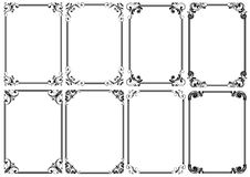 Set of eight black decorative frame Royalty Free Stock Photos