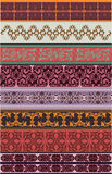 Set Of Eight Color Borders. Stock Photography