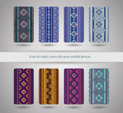 A set of eight covers for your mobile    phone. Stock Photo