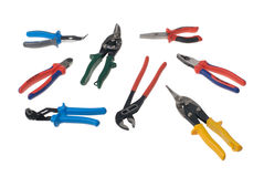 Set of eight different pliers Stock Photography