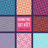 Set of eight geometric patterns Royalty Free Stock Photo
