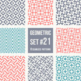 Set of eight geometric patterns Royalty Free Stock Image