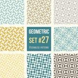 Set of eight geometric patterns Royalty Free Stock Photos