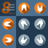Set of eight icons - with arrows Royalty Free Stock Photo