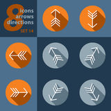 Set of eight icons with arrows Stock Images