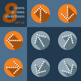 Set of eight icons with arrows Stock Photography