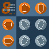Set of eight icons - with arrows Stock Photos