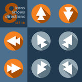 Set of eight icons with arrows Royalty Free Stock Photos