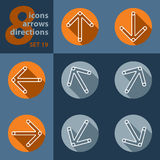 Set of eight icons - with arrows Stock Photo