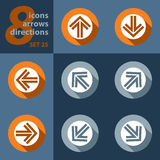 Set of eight icons - with arrows Royalty Free Stock Photos