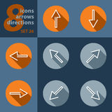 Set of eight icons, with arrows Stock Photo